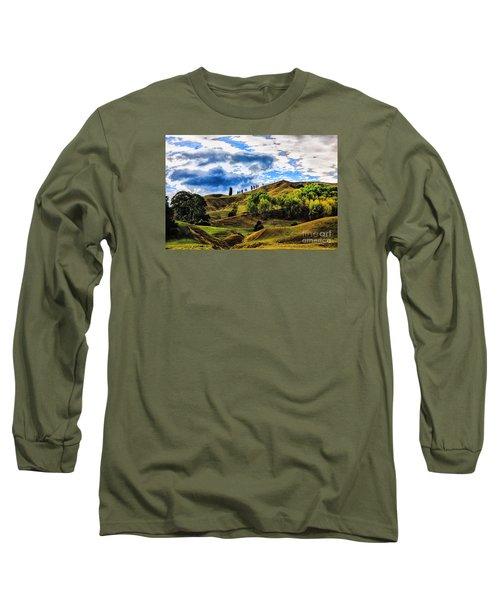 Rolling Hills Long Sleeve T-Shirt by Rick Bragan