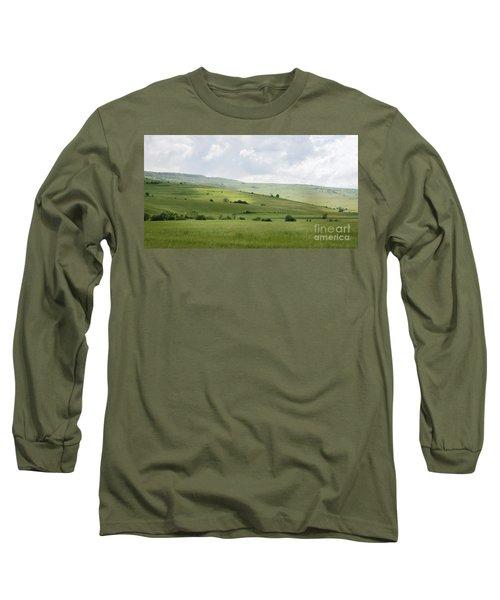 Rolling Landscape, Romania Long Sleeve T-Shirt