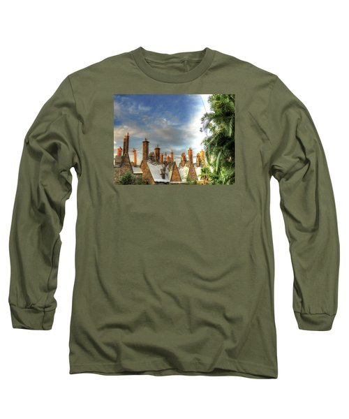 Long Sleeve T-Shirt featuring the photograph rooftops Hogsmeade by Tom Prendergast