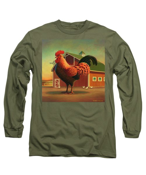 Rooster And The Barn Long Sleeve T-Shirt