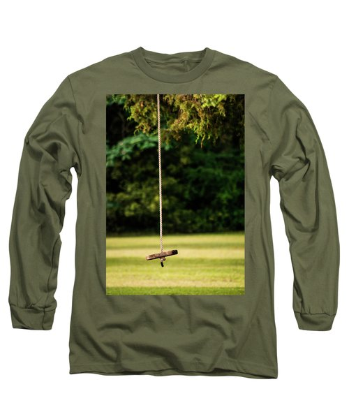 Long Sleeve T-Shirt featuring the photograph Rope Swing  by Shelby Young
