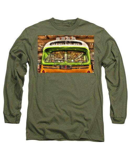 Rosa Parks Bus Dearborn Mi Long Sleeve T-Shirt
