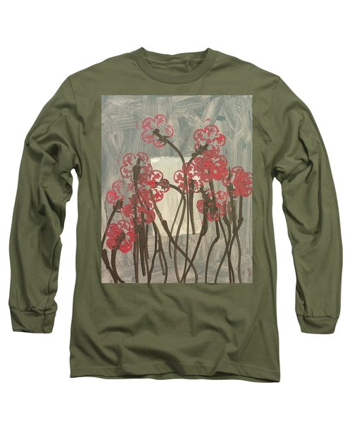 Rose Field Long Sleeve T-Shirt by Artists With Autism Inc
