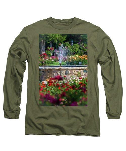 Rose Fountain Long Sleeve T-Shirt
