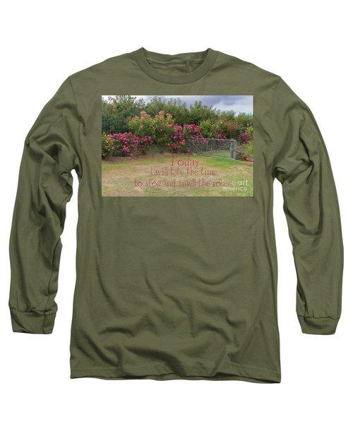 Rose Garden Long Sleeve T-Shirt by Elaine Teague