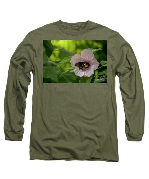 Rose Mallow Long Sleeve T-Shirt