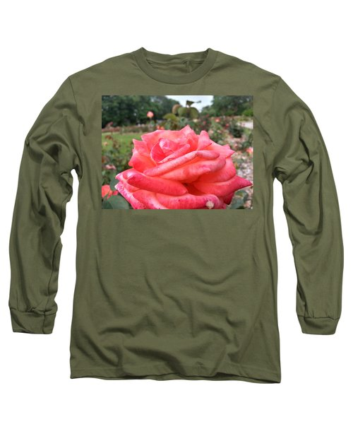 Long Sleeve T-Shirt featuring the photograph Rose Of Sharon - Faith by Robert Knight
