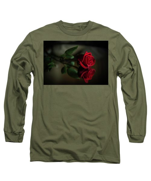 Rose Reflected Long Sleeve T-Shirt