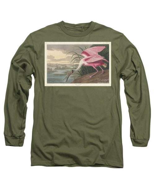 Roseate Spoonbill, 1836  Long Sleeve T-Shirt