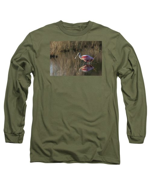 Roseate Spoonbill In Morning Light Long Sleeve T-Shirt