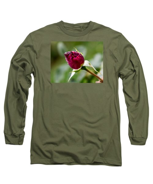 Rosebud Long Sleeve T-Shirt by Cathy Donohoue