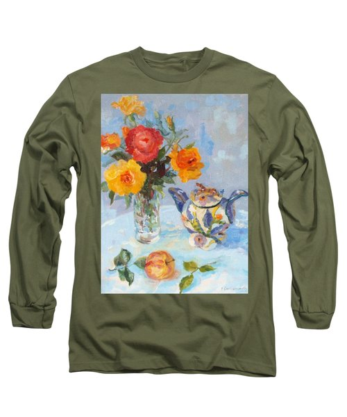 Roses, Apple And Ardmore Jar Long Sleeve T-Shirt