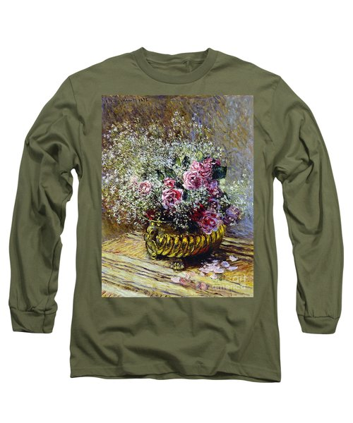 Roses In A Copper Vase Long Sleeve T-Shirt