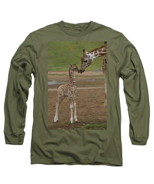 Rothschild Giraffe Giraffa Long Sleeve T-Shirt