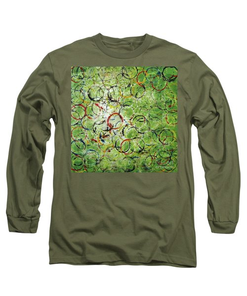 Long Sleeve T-Shirt featuring the painting Round About 2 by Michael Cross