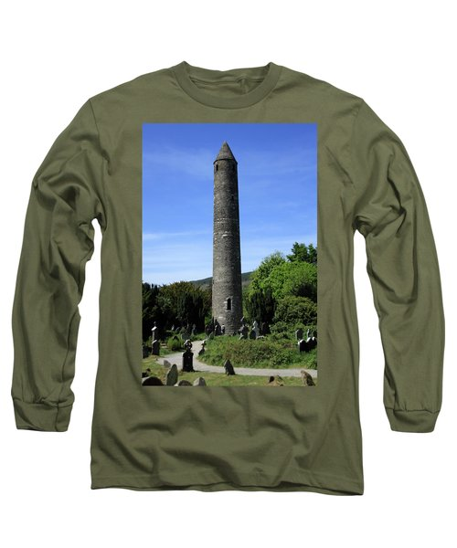 Round Tower At Glendalough Long Sleeve T-Shirt