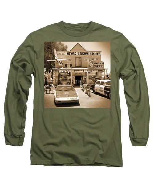 Route 66 - Historic Sundries Long Sleeve T-Shirt