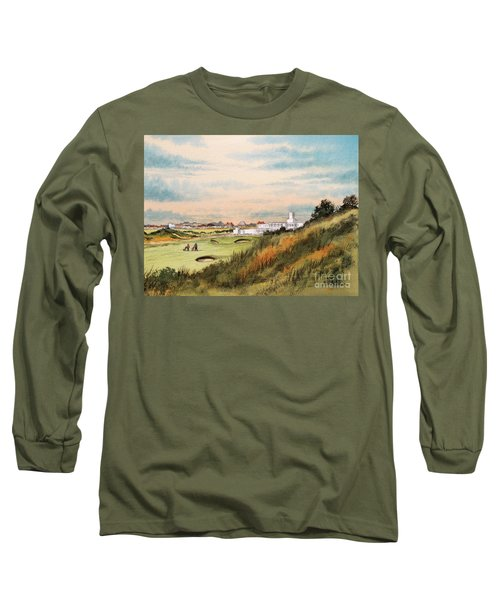 Long Sleeve T-Shirt featuring the painting Royal Birkdale Golf Course 18th Hole by Bill Holkham