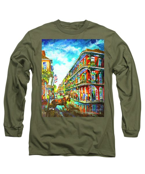 Royal Carriage - New Orleans French Quarter Long Sleeve T-Shirt