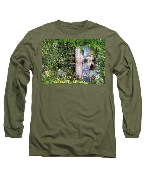 Long Sleeve T-Shirt featuring the digital art  Ruach Ha-kodesh by Dolores Develde