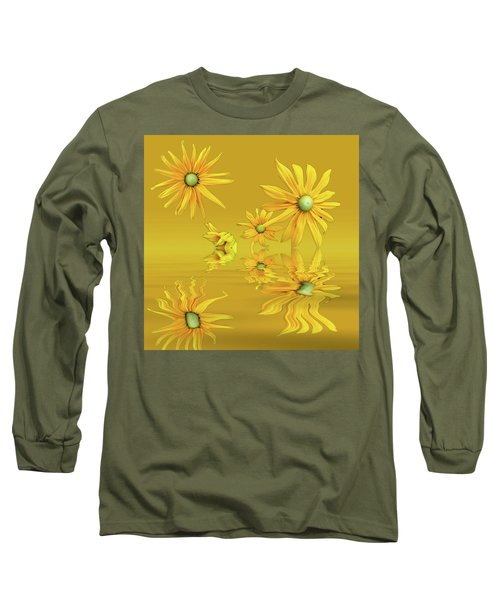 Long Sleeve T-Shirt featuring the photograph Rudbekia Yellow Flowers by David French