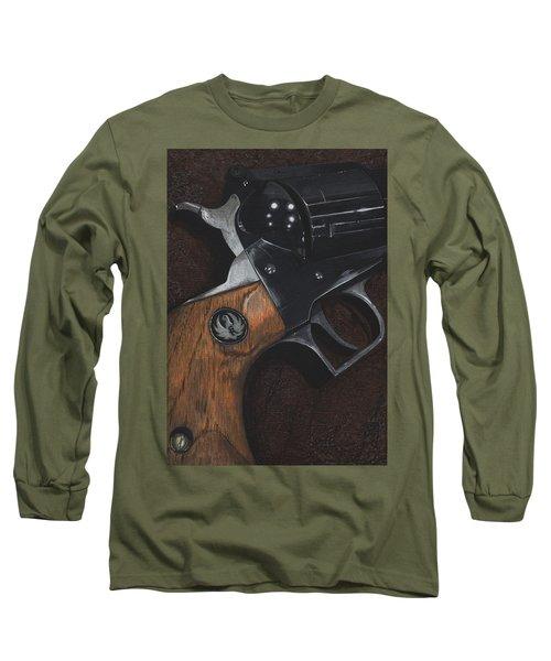 Ruger 44 Magnum Super Blackhawk Revolver Long Sleeve T-Shirt