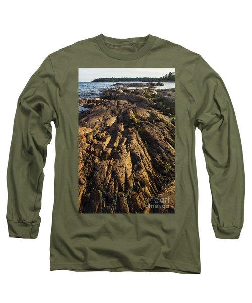Rugged Killarney Shoreline-4441 Long Sleeve T-Shirt
