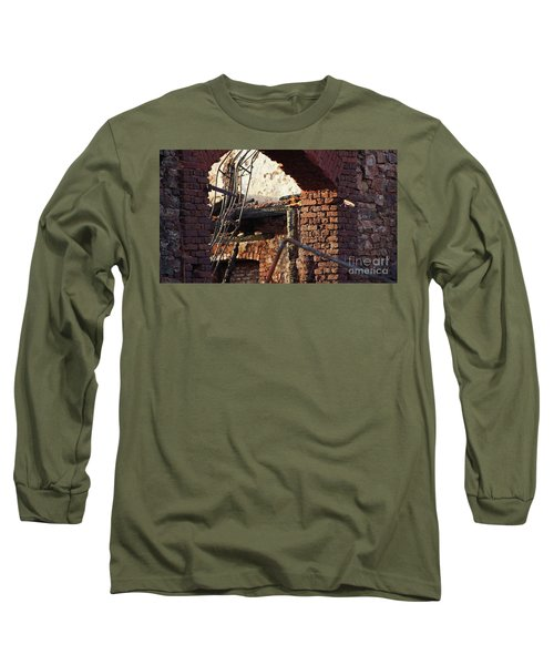 Ruin After Big Fire  Long Sleeve T-Shirt