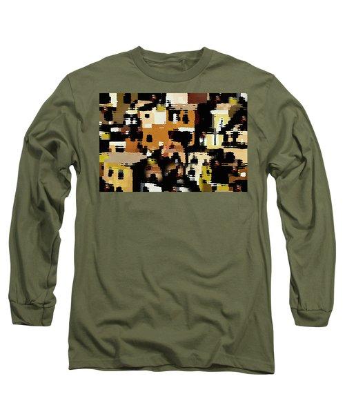 Ruins, An Abstract Long Sleeve T-Shirt