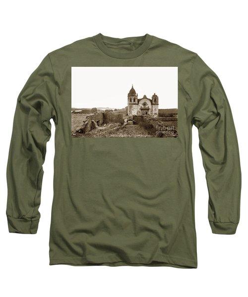 Ruins Of Carmel Mission, Monterey, Cal. Circa 1882 Long Sleeve T-Shirt