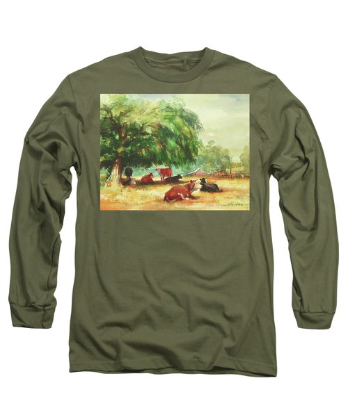 Long Sleeve T-Shirt featuring the painting Rumination by Steve Henderson