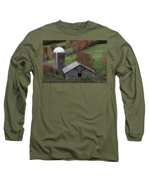 Rupert Mountain Face Barn Long Sleeve T-Shirt