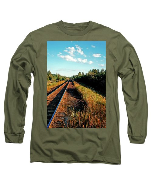 Rural Country Side Train Tracks Long Sleeve T-Shirt
