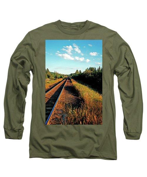Rural Country Side Train Tracks Long Sleeve T-Shirt