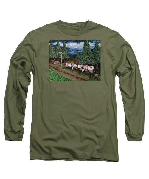 Long Sleeve T-Shirt featuring the painting Rural Delivery by Katherine Young-Beck