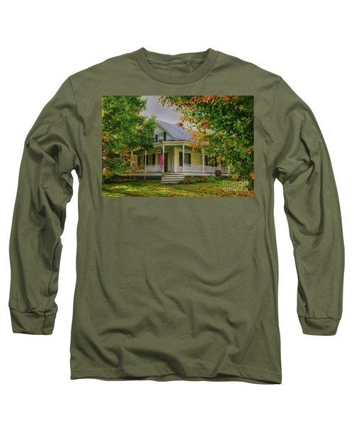 Long Sleeve T-Shirt featuring the photograph Rural Vermont Farm House by Deborah Benoit