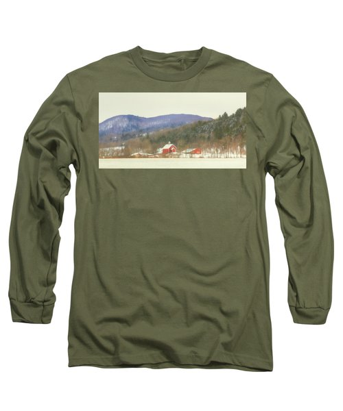 Long Sleeve T-Shirt featuring the digital art Rural Vermont by Sharon Batdorf