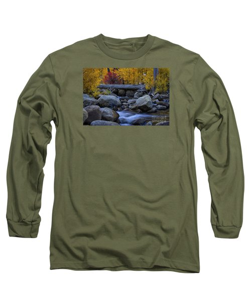 Rushing Into Autumn Long Sleeve T-Shirt by Mitch Shindelbower
