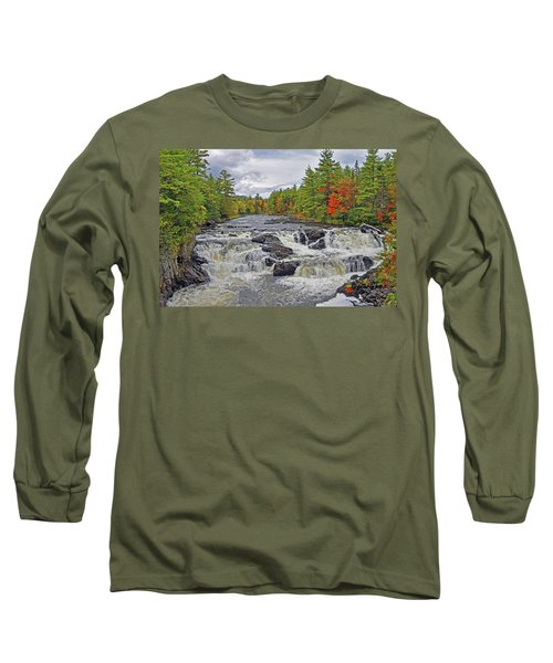 Long Sleeve T-Shirt featuring the photograph Rushing Towards Fall by Glenn Gordon