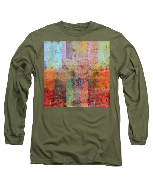 Long Sleeve T-Shirt featuring the painting Rust Study 1.0 by Michelle Calkins