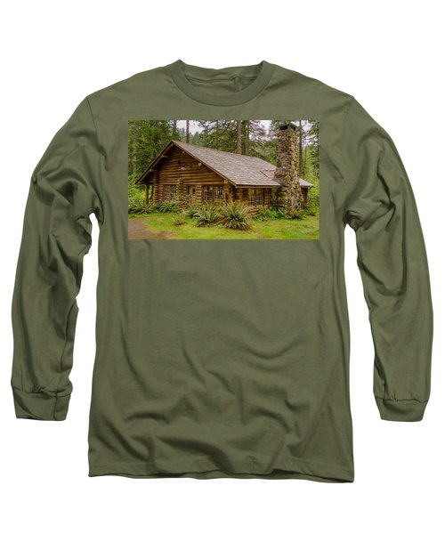 Long Sleeve T-Shirt featuring the photograph Rustic Cabin by Jerry Cahill