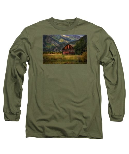 Rustic Colorado Barn Long Sleeve T-Shirt by John Vose