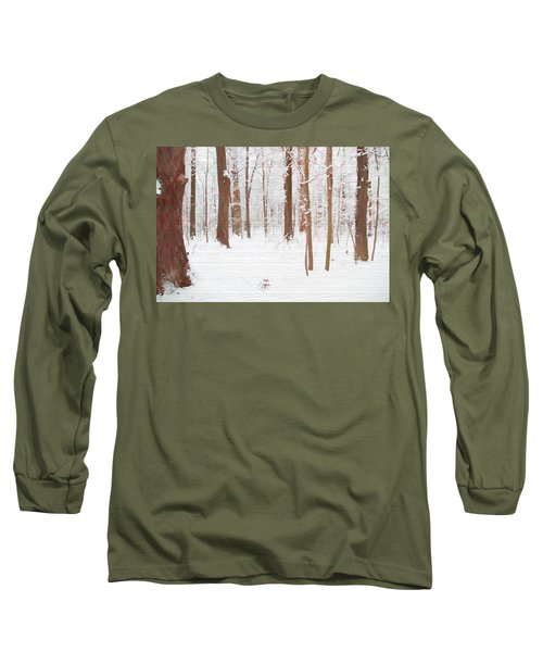 Rustic Winter Forest Long Sleeve T-Shirt by Dan Sproul