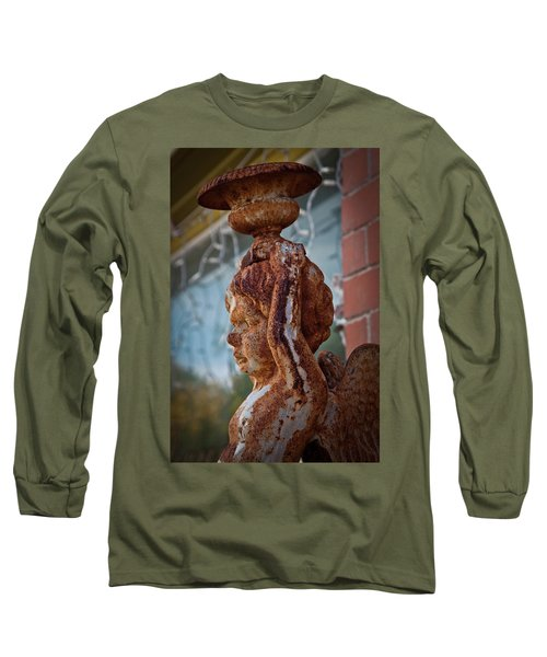 Long Sleeve T-Shirt featuring the photograph Rusty Angel by Linda Unger