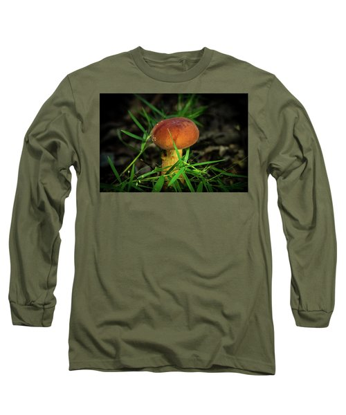 Rusty Brown Plyporacead Amid The Grass Long Sleeve T-Shirt