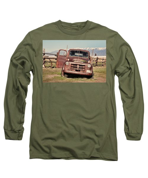 Long Sleeve T-Shirt featuring the photograph Rusty Old Dodge by Ely Arsha