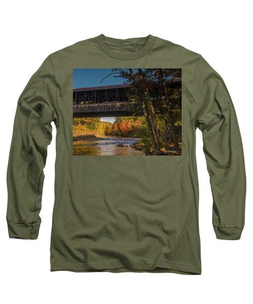 Saco River Covered Bridge Long Sleeve T-Shirt