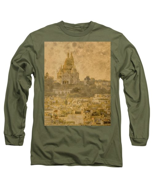 Paris, France - Sacre-coeur Oldplate Long Sleeve T-Shirt