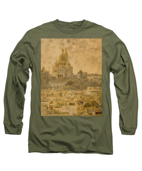 Paris, France - Sacre-coeur Oldplate Long Sleeve T-Shirt