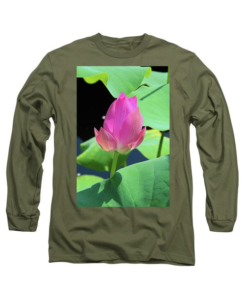 Sacred Pink Long Sleeve T-Shirt by Inspirational Photo Creations Audrey Woods
